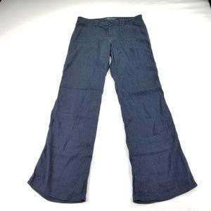 Level 99 Pants 29 Linen Anthropologie Navy 111